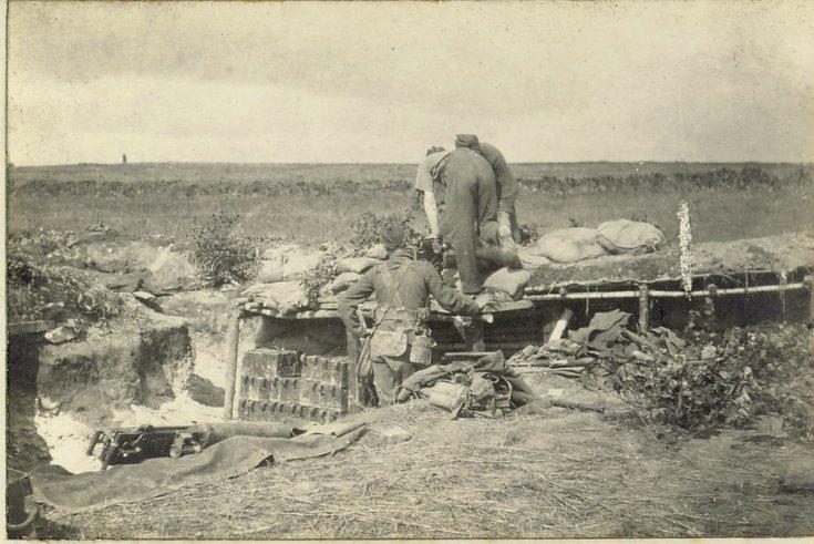 Machine gun position at St Marguerite
