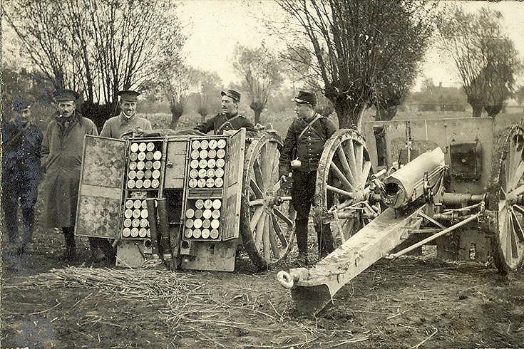 French guns and ammunition wagon