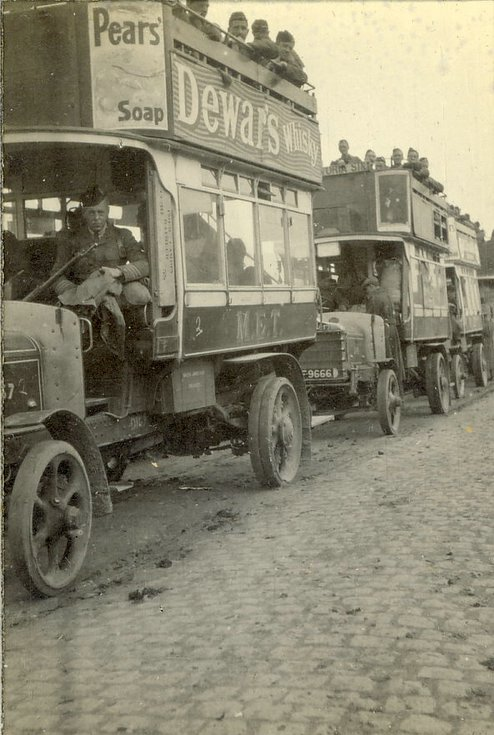 Bus transport to the trenches Vlamertinghe to Levantie