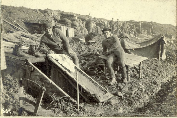 The back of our bedrooms in the trenches