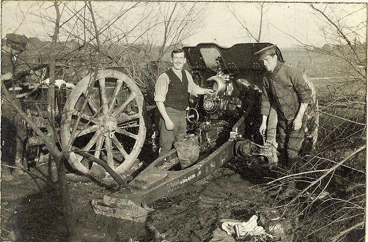 British 18 Pounder Gun in concealed shelter