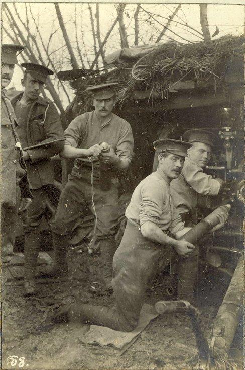 British 18 Pounder Gun in concealed shelte