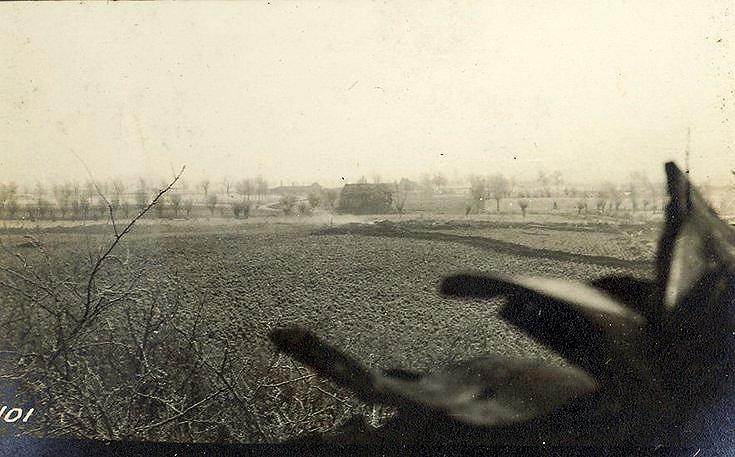View of British and German trenches