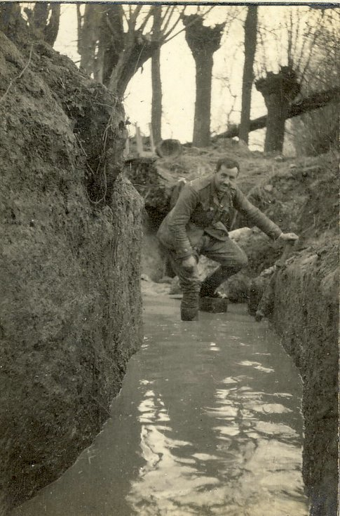 Attempting to drain the communication trench