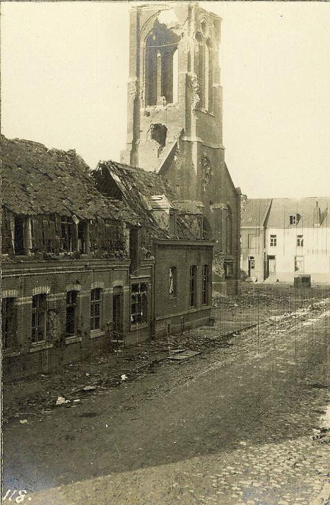 Church destroyed by German guns