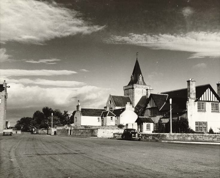 View of Square and Cathedral, Dornoch