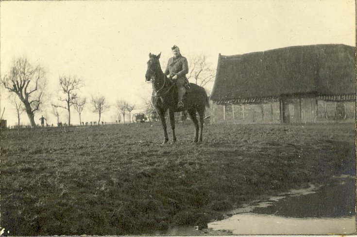 Captain Stormouth-Darling mounted