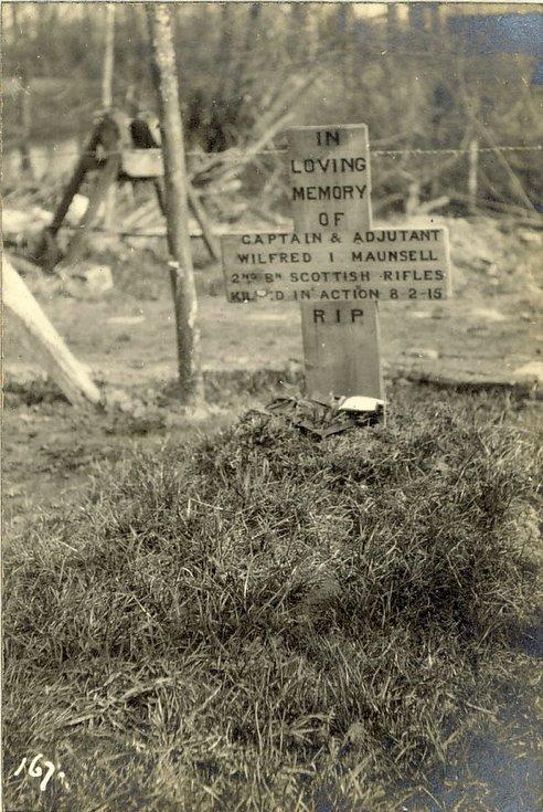 Capt. & Adjutant Wilfred. I. Maunsell's grave