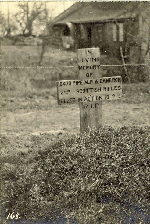 Pipe Major A. Cameron's grave