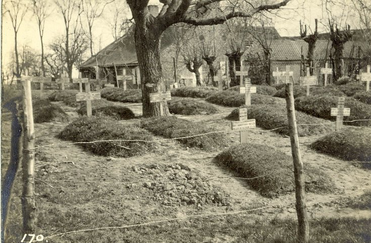 General view of cemetery