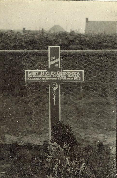 Lieut. H.O.D. Beecher's grave