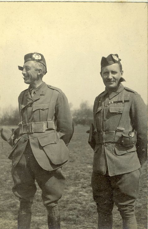 CO and RSM 2nd Battalion The Cameronians