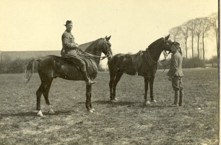 Mounted Cameronian Officer with second horse