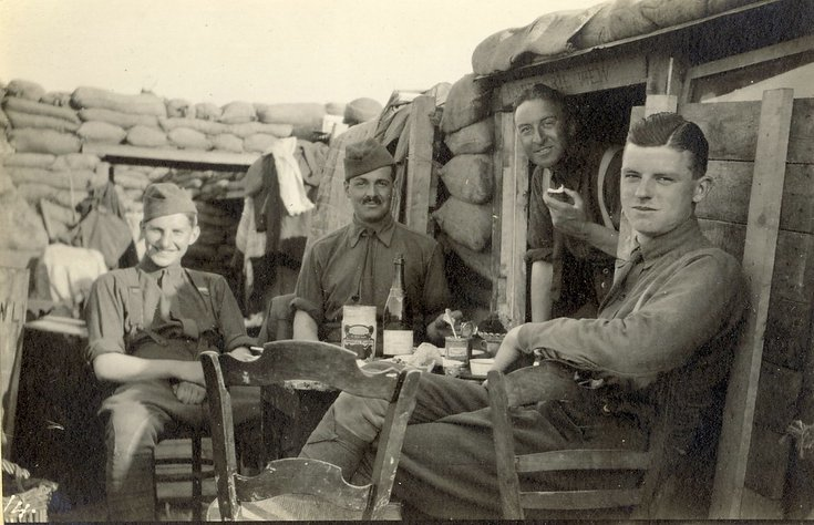 Afternoon tea ~ 'C' Company officers