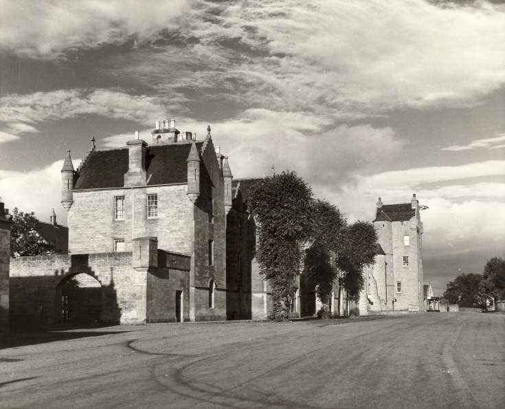 View of Square and Castle Hotel, Dornoch