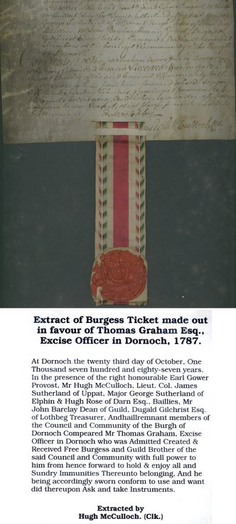 Burgess Ticket awarded to Thomas Graham