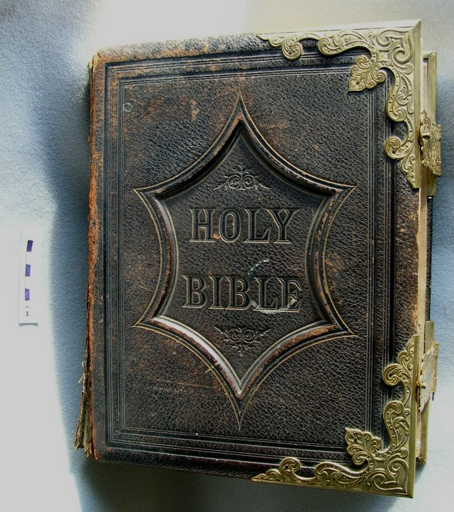 Family bible of Mr & Mrs James Hardie