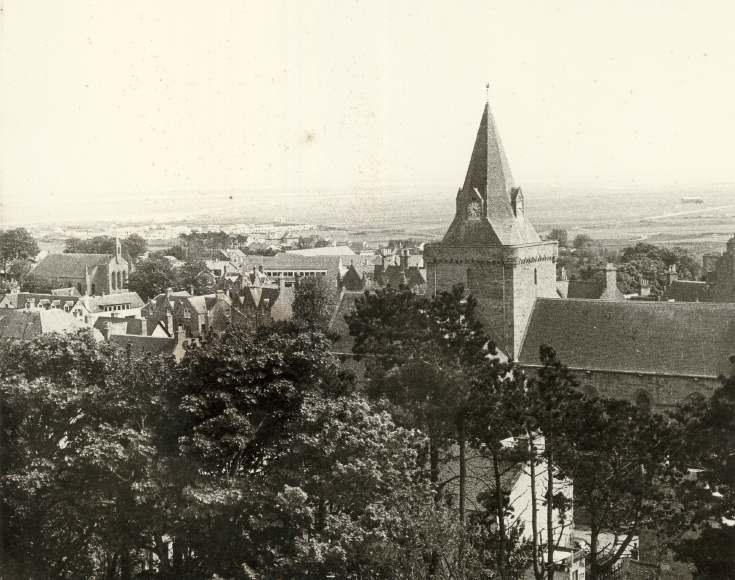 View of Dornoch from the north