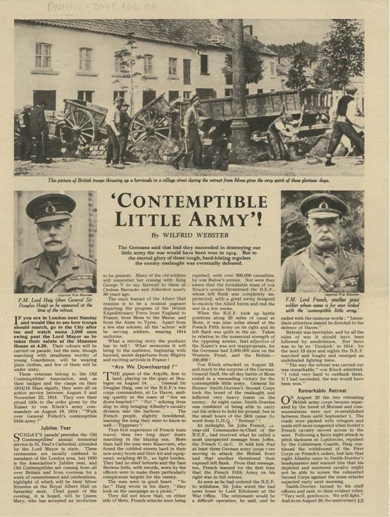 Article with title 'Contemptible Little Army'