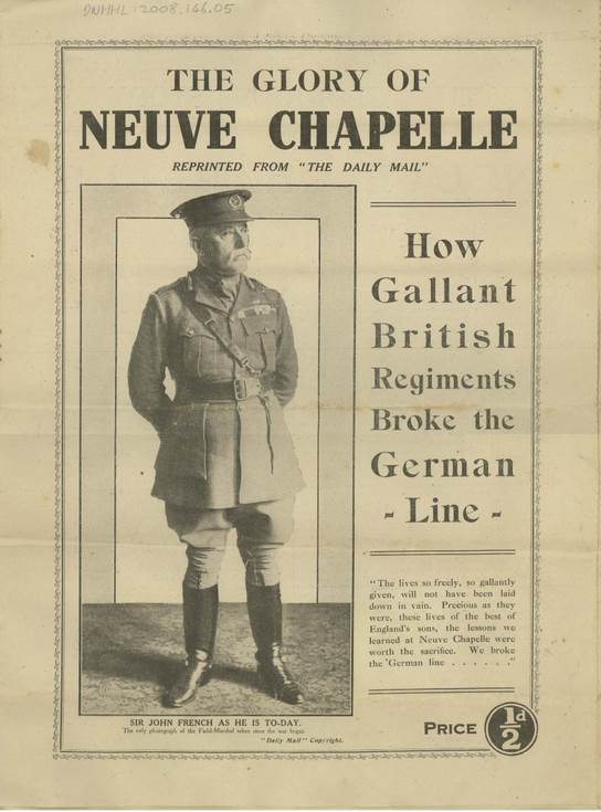 Newspaper supplement ''The Glory of Neuve Chapelle'