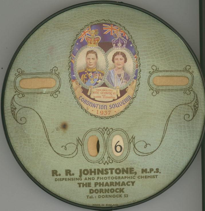 Coronation souvenir calendar
