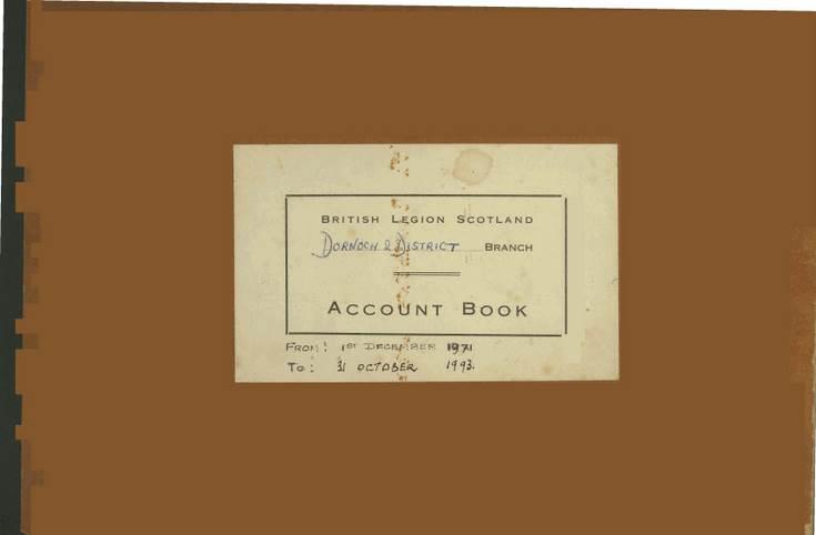 British Legion Account Book