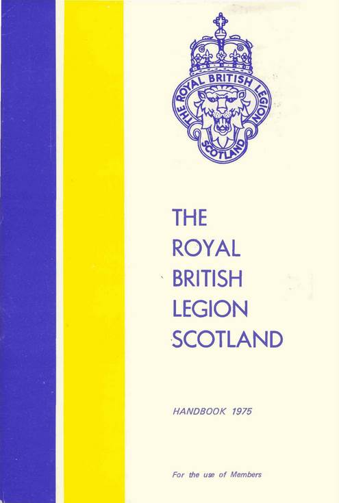 Royal British Legion Scotland Handbook 1975