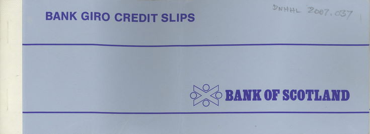 Bank Giro Credit Slips