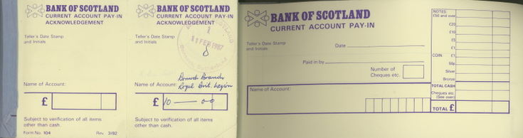 Current Account Pay-In Book