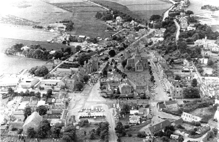 Aerial view of Dornoch