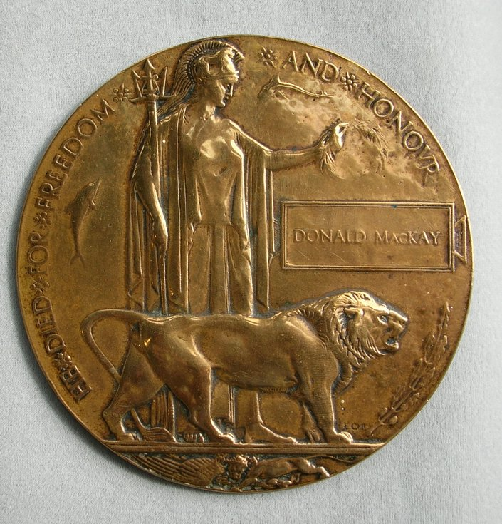 World War 1 Plaque Killed in Action