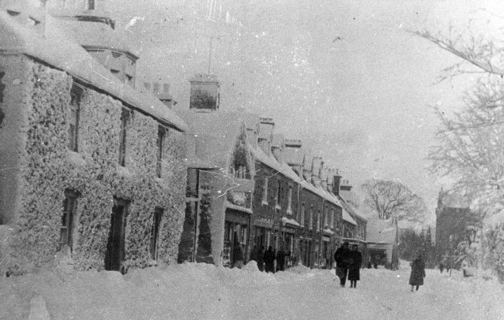 Castle Street, Dornoch in deep snow