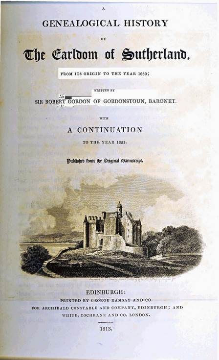 Genealogical History of the Earldom of Sutherland
