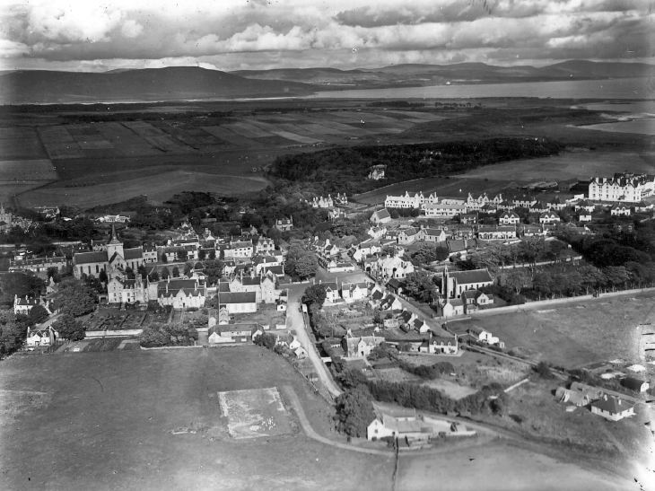 Aerial view of Dornoch from the south