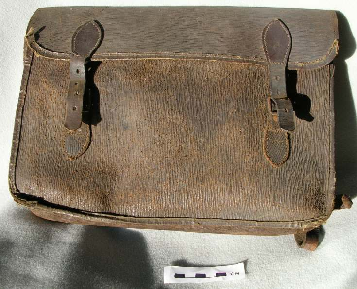 John Gordon's school satchel