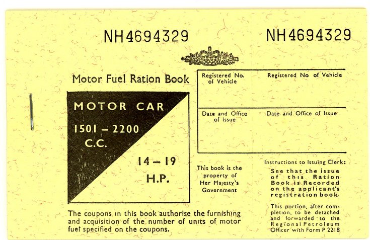 Motor Fuel Ration Book 1973