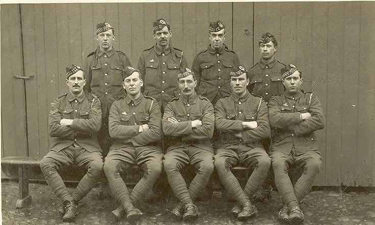 Group of WWI soldiers