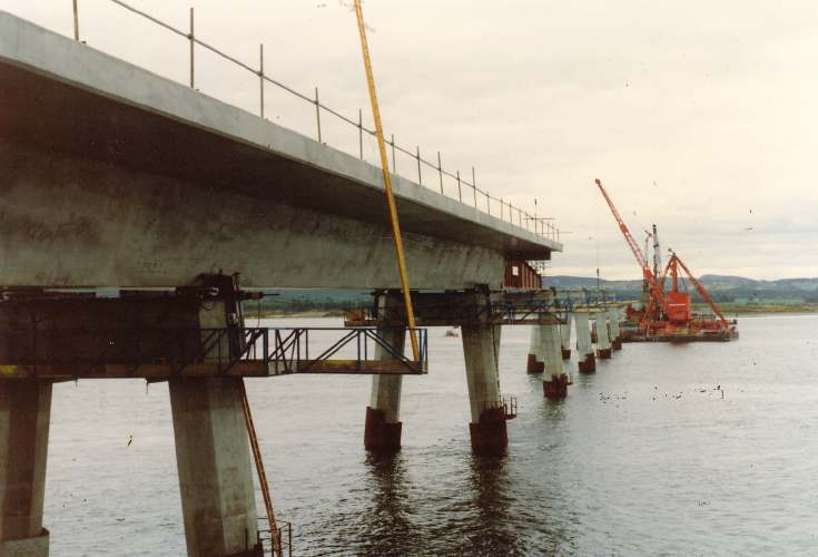 Dornoch Bridge under construction
