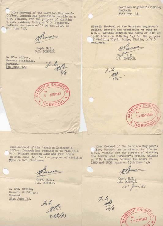 Travel Permits World War 2