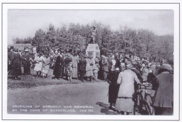 Unveiling of Dornoch War Memorial 1922