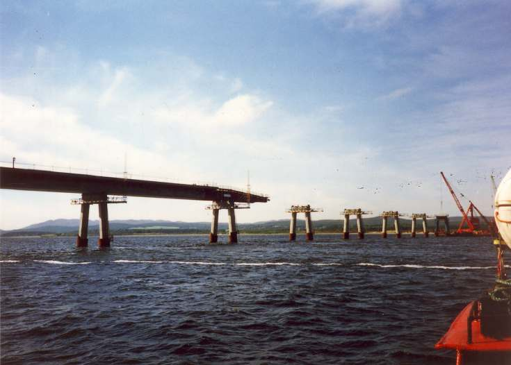 Dornoch Bridge under construction