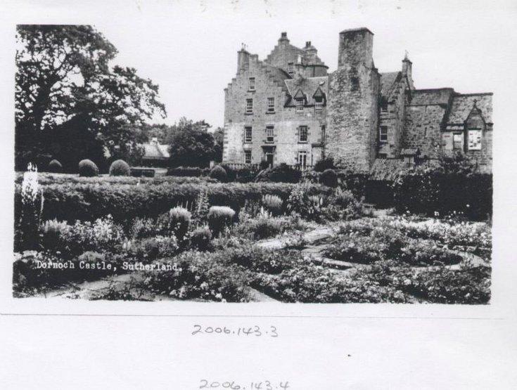 Dornoch Castle and gardens