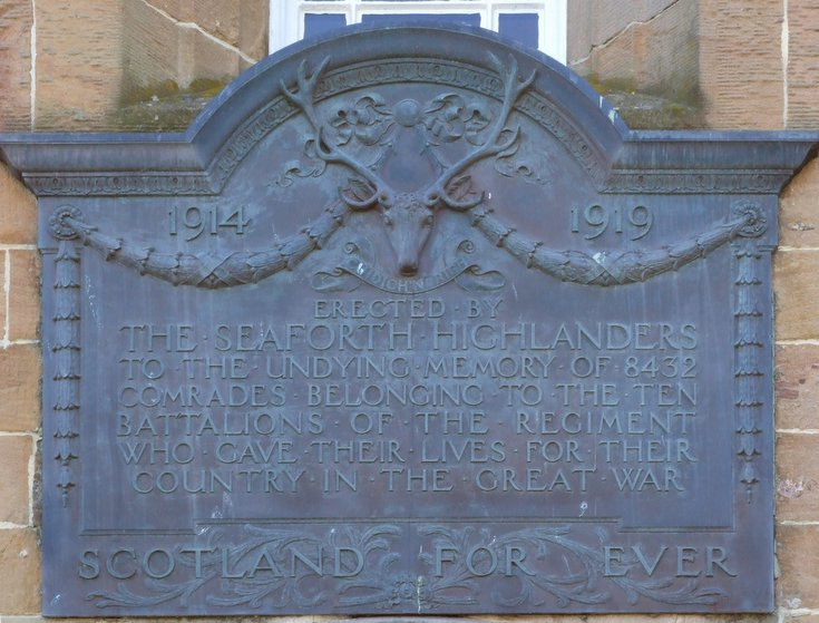 Seaforth Highlanders Memorial Plaque on Dornoch Courthouse