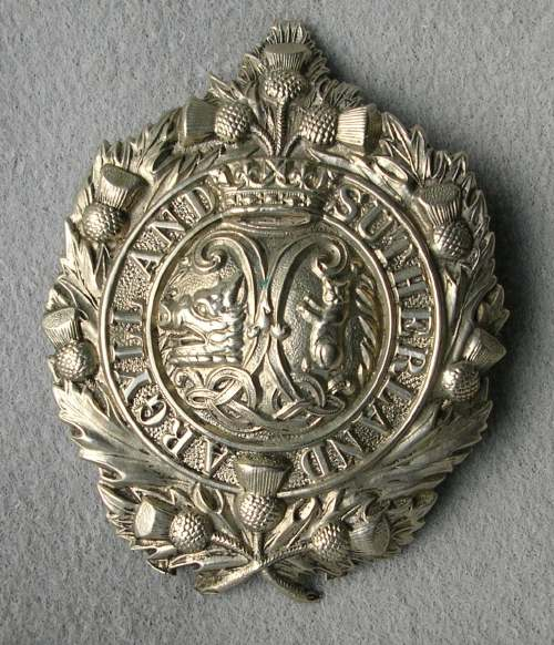 Argyll & Sutherland Highlanders badge