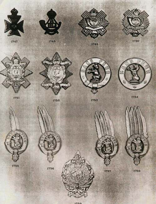 Information on Sutherland military badges