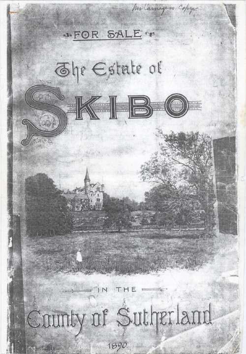 Sales prospectus for Skibo Estate