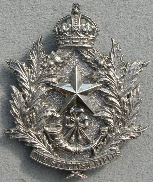 Cameronians Cross Belt Badge