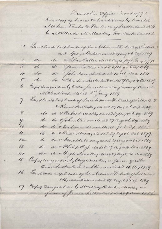 List of Littletown leases ~ 1890