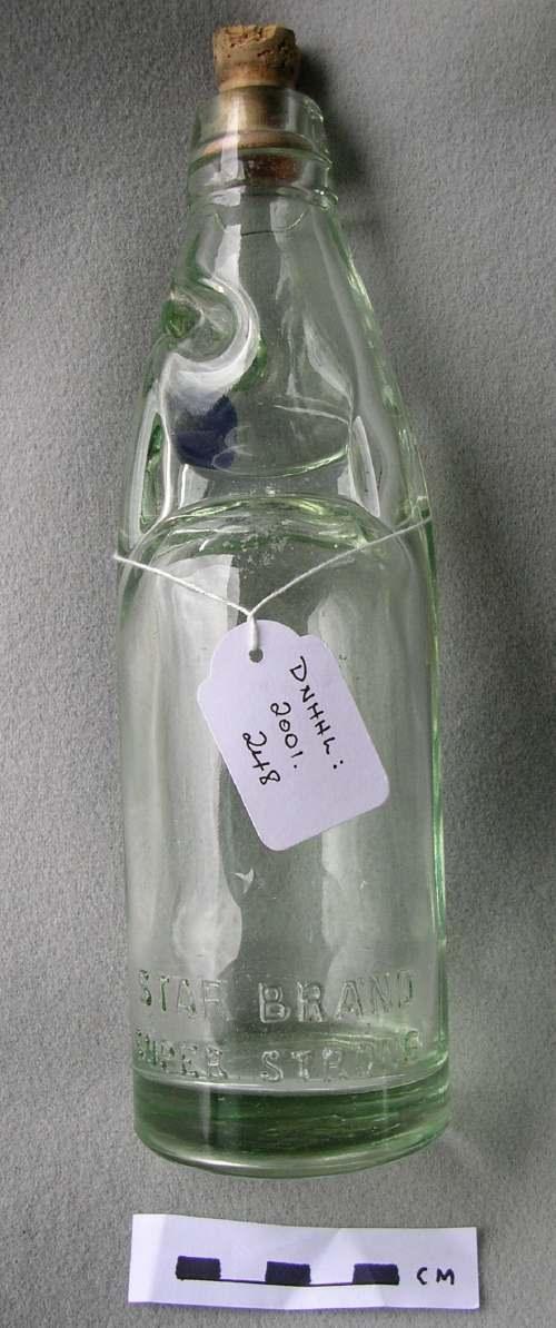 Glass fizzy drinks bottle