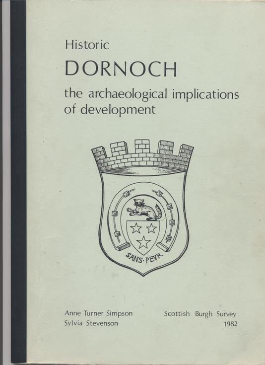 Booklet on archaeology of Dornoch